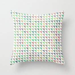edge of autumn geometric pattern Throw Pillow
