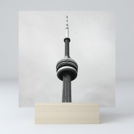 Canada Photography - The CN Tower Under Gray Clouds Mini Art Print
