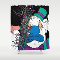 clown Shower Curtains featuring Clown by Baby Hates It