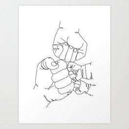 Family Hands Minimal Art Print