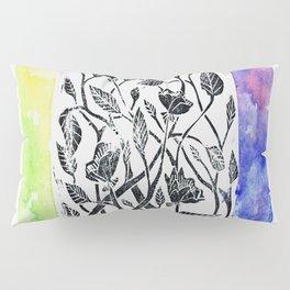rainbow floral watercolor Pillow Sham