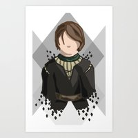 house stark Art Prints featuring Arya Stark by itsamoose