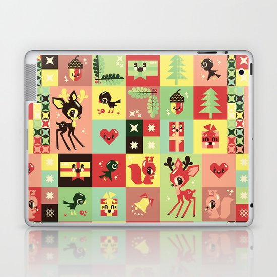 Christmas Geometric Pattern No. 2. Laptop & iPad Skin