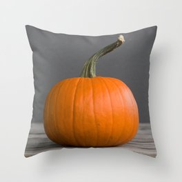 """Sugar Pie"" Pumpkin no. 3 -- Still Life Squashes & Potirons Throw Pillow"