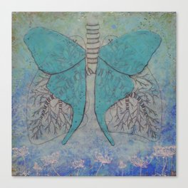Luna Moth Lungs Canvas Print