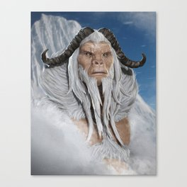 The Great White Ape Canvas Print