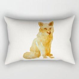 Cute brown orange hand painted watercolor fox Rectangular Pillow