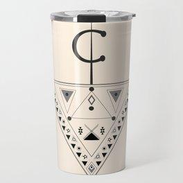 Moroccan and Algerian inspiration - Fubula and berber ornaments Travel Mug