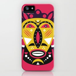 African Kuba Face Mask iPhone Case