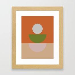 Geometric Shapes #fallwinter #colortrend #decor Framed Art Print