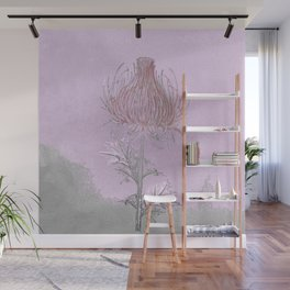 Thistle- everyone manages a plume of blood Wall Mural