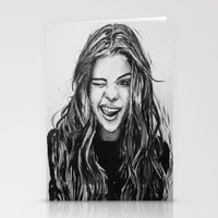 selena Stationery Cards featuring Hello Selena! by vooce & kat