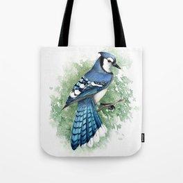 Blue Jay In Watercolor Tote Bag