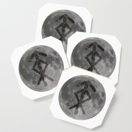 Viking bind rune 'Protection' on moon. Coaster