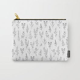 Tiny New Wildflowers - White Carry-All Pouch