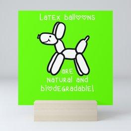 Balloon Dogs: Latex is Natural! Mini Art Print