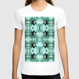 Shiny Green Flower Design, Pattern T-shirt