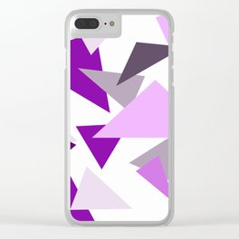 Triangel Design purple violet pink Clear iPhone Case