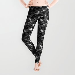 Black and White Scales Leggings