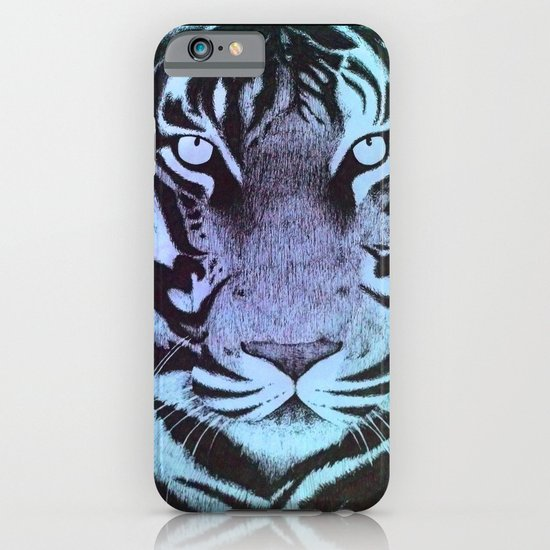 Be a Tiger (Blue) iPhone & iPod Case