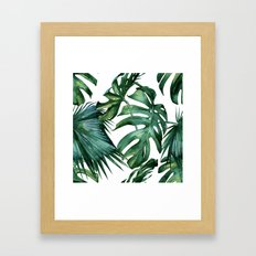 Simply Island Palm Leaves Framed Art Print