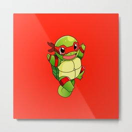 TMNT_POKET_MONSTER_RED Metal Print