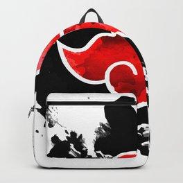 red cloud akatsuki watercolor Backpack