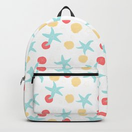 Salish Starfish in White Backpack