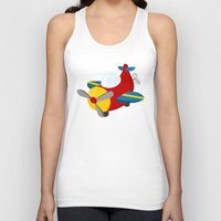 plane Tank Tops featuring plane by Alapapaju