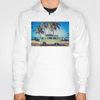 vw bus Hoodies featuring VW Bus Beach Vacation by Limitless Design