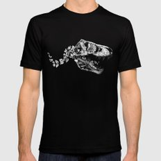 Jurassic Bloom - The Rex.  Black Mens Fitted Tee LARGE