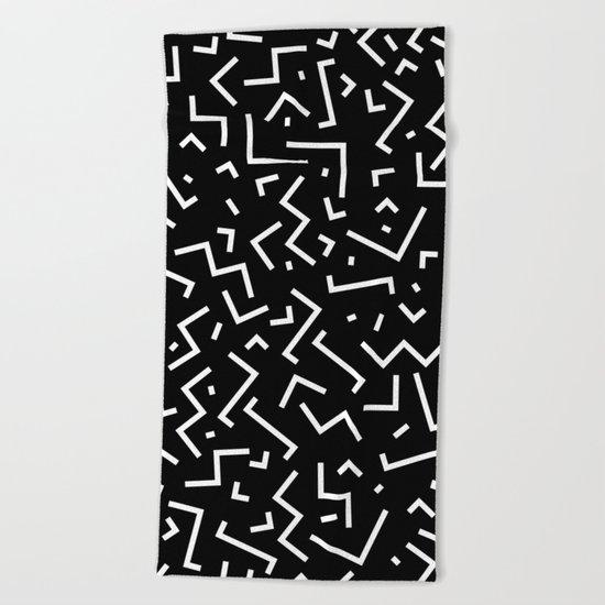 Memphis pattern 31 Beach Towel
