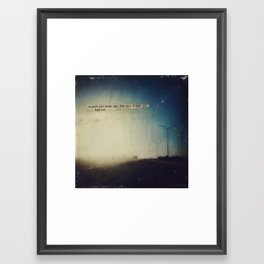 Sound and sweet airs Framed Art Print