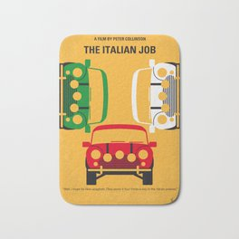 No279 My The Italian Job minimal movie poster Bath Mat