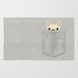Pocket French Bulldog - Cream Rug