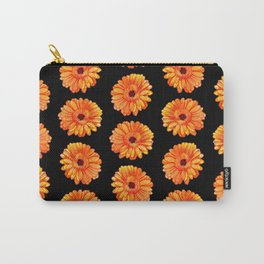 Gerbera flowers illustration pattern Carry-All Pouch