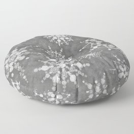 Winter Snowflakes Floor Pillow