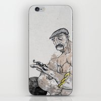 knight iPhone & iPod Skins featuring Knight by Crooked Octopus