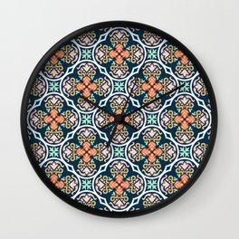 Indigo & Papaya Pattern 11 Wall Clock