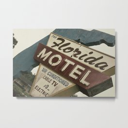 Florida Motel Metal Print