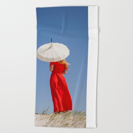 Lady in Red II Beach Towel