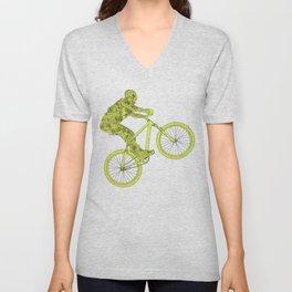 mountain biker Unisex V-Neck