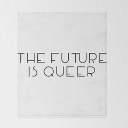 The Future Is Queer Throw Blanket