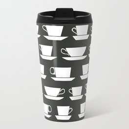 Pattern of Coffee and Tea Cups Travel Mug