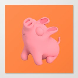 Rosa the Pig Snobby Canvas Print