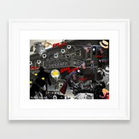 sin city Framed Art Prints featuring Sin City by Phillip J. Speciale