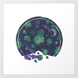 Amongst the Lilypads Art Print