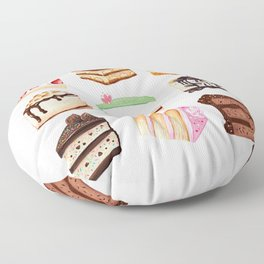 Yummy Cakes Floor Pillow