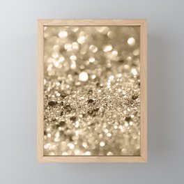 Champagne Gold Lady Glitter #1 #shiny #decor #art #society6 Framed Mini Art Print