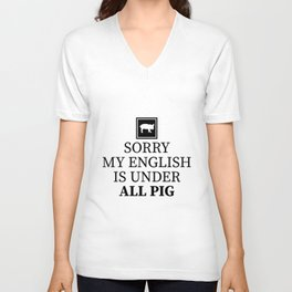 sorry my English is under all pig. Unisex V-Neck